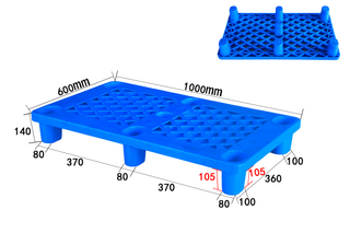 1000*600mm Nine Legs 4-Way Entry Grid Deck Perforated Plastic Pallets